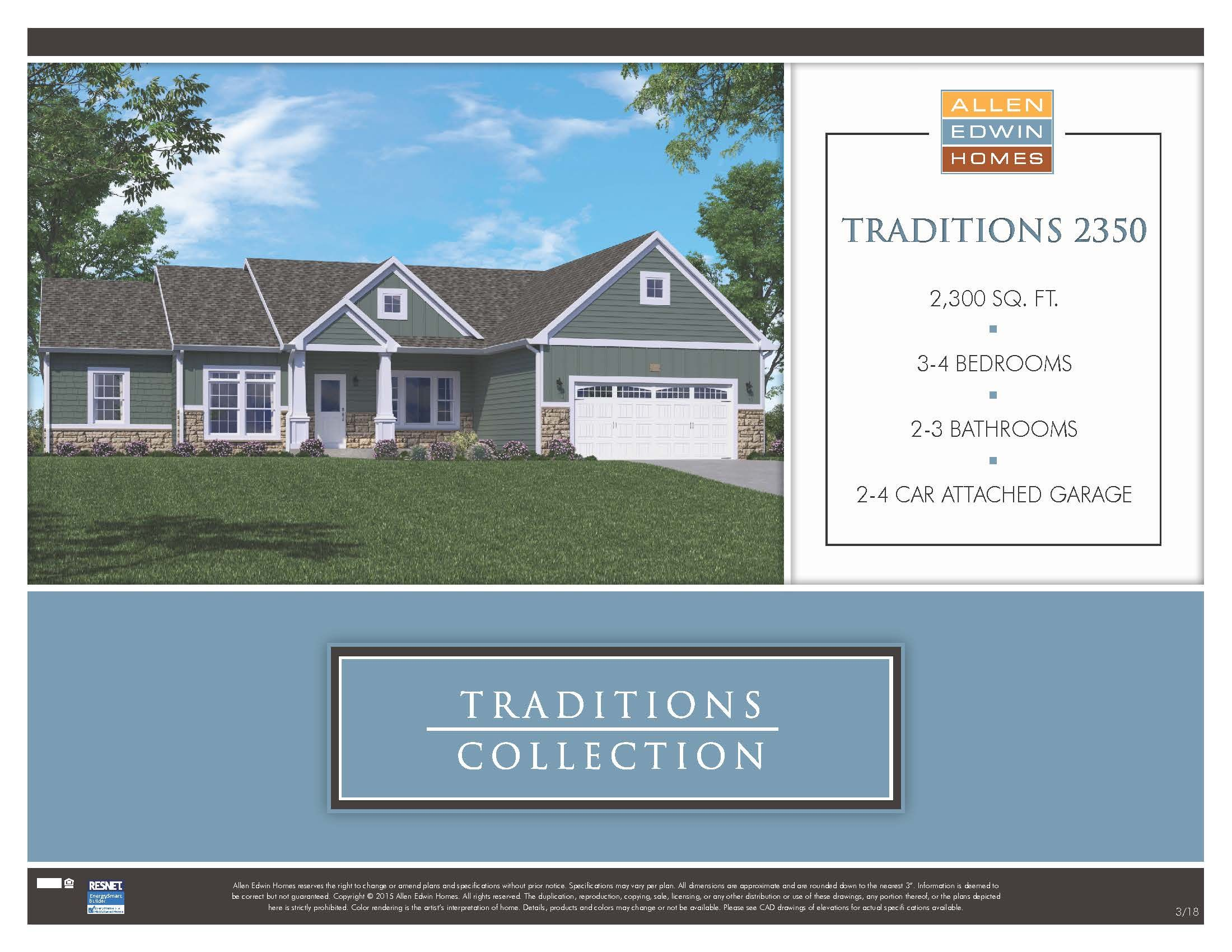Floor Plans Traditions 2350 Traditions 2350