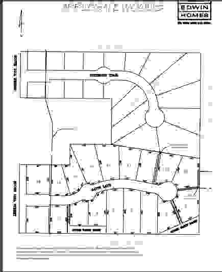 Applegate Woods Lot Map