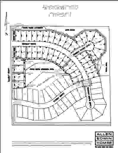Arborwood Lot Map