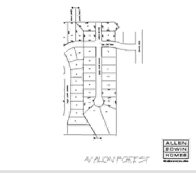 Avalon Forest Lot Map