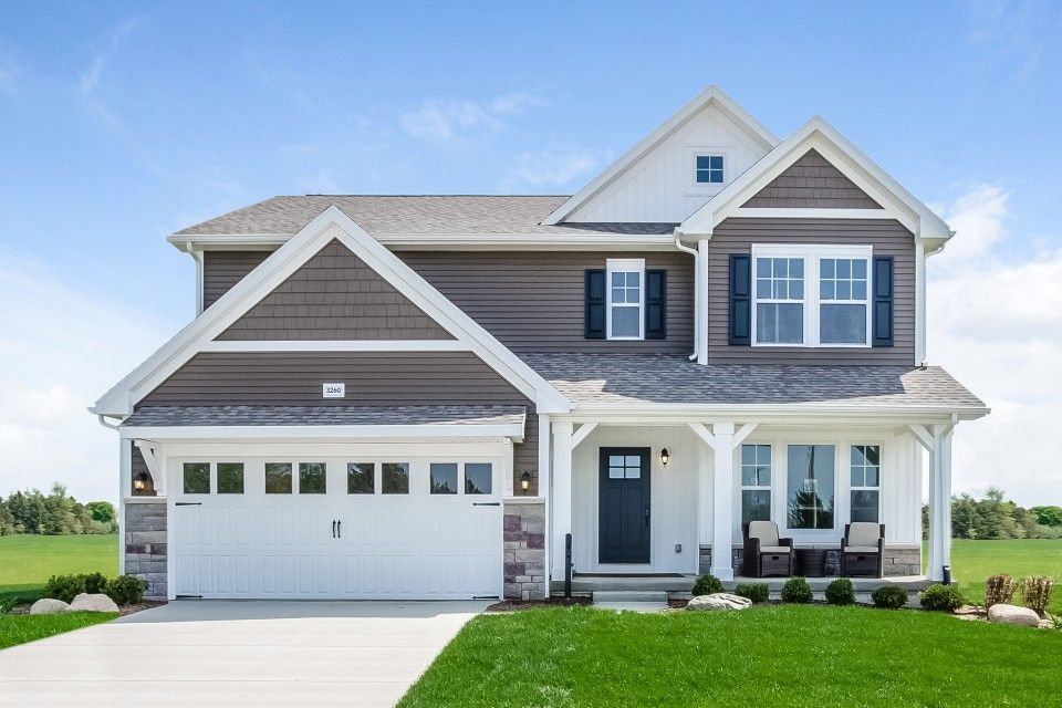 Exterior featured in the Elements 2390 By Allen Edwin Homes in Ann Arbor, MI