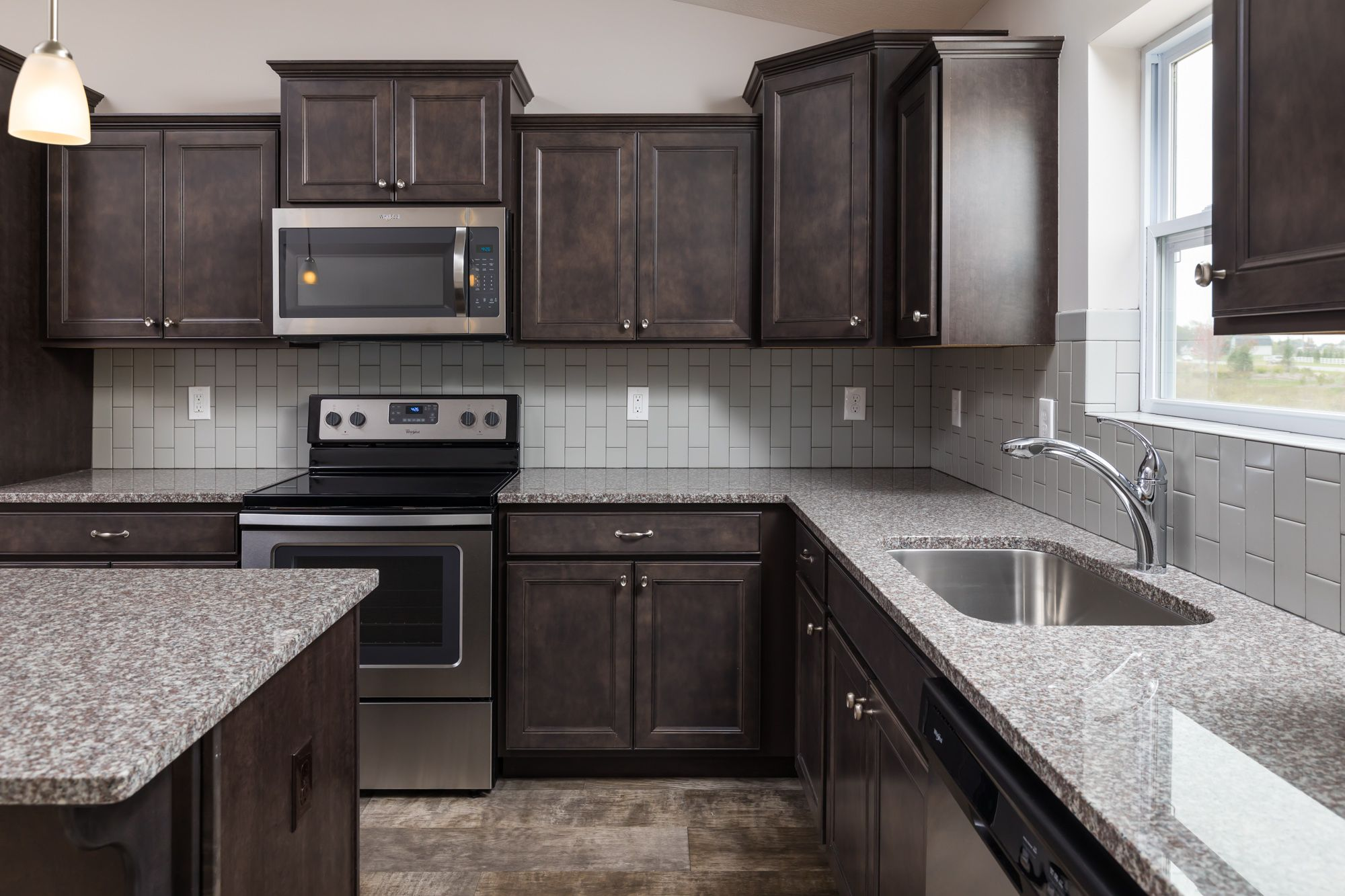 Kitchen featured in the Elements 1600 By Allen Edwin Homes in Detroit, MI
