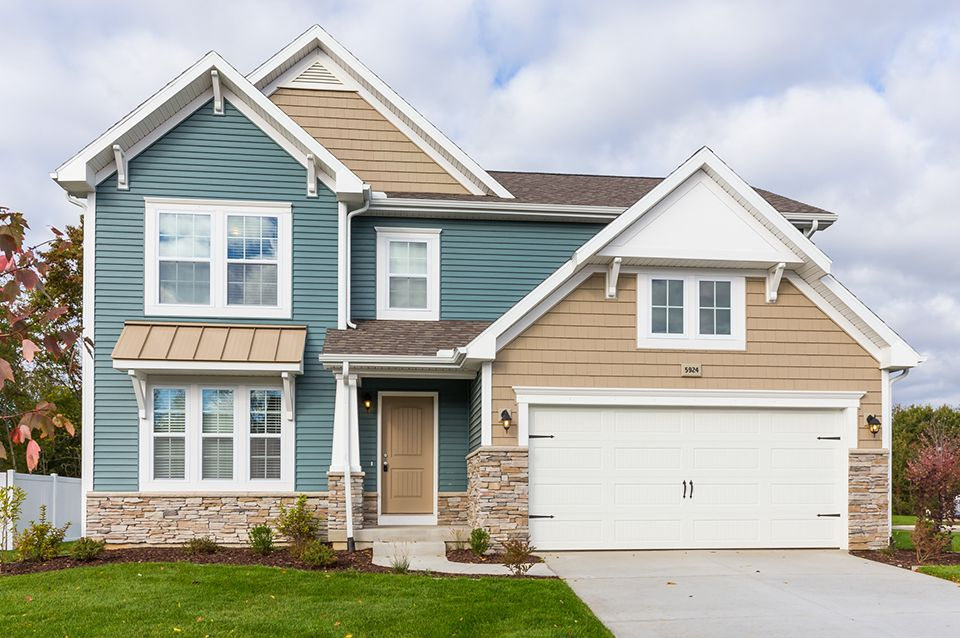 Exterior featured in the Elements 2070 By Allen Edwin Homes in South Bend, IN