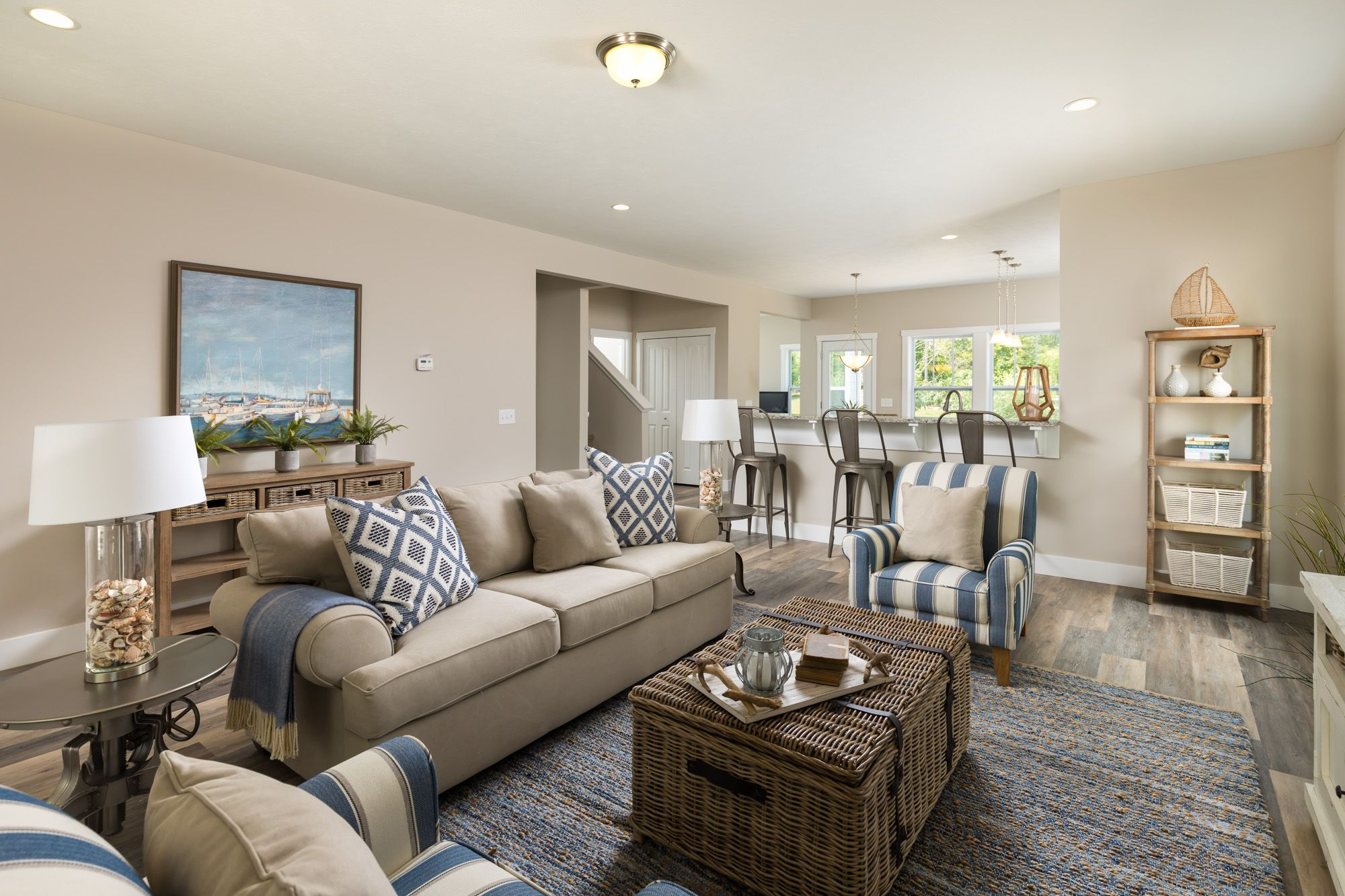 Living Area featured in the Elements 2100 By Allen Edwin Homes in South Bend, IN