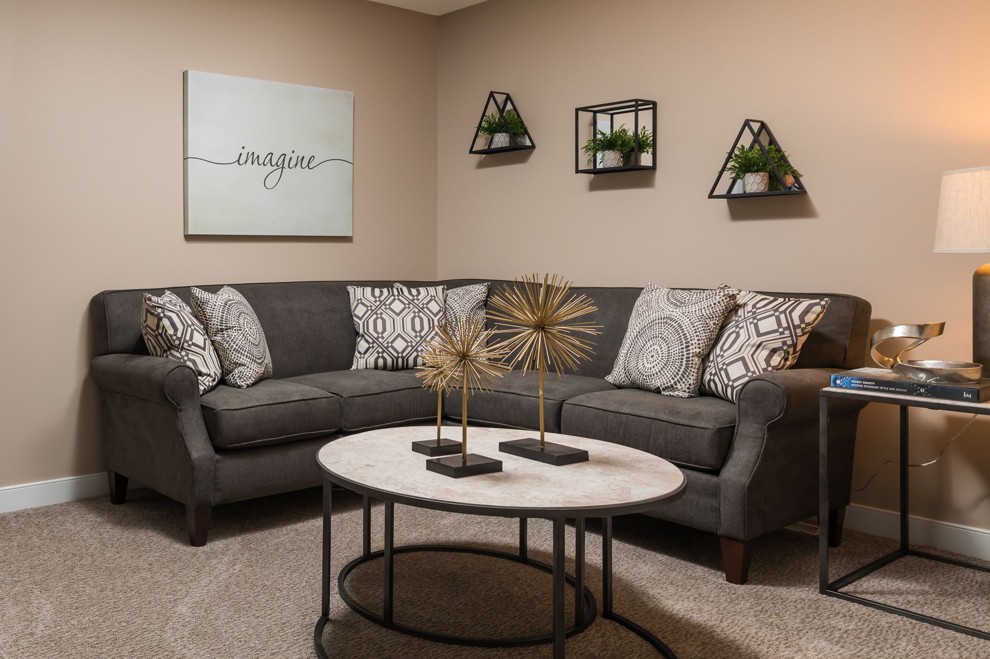 Living Area featured in the Elements 2600 By Allen Edwin Homes in Detroit, MI