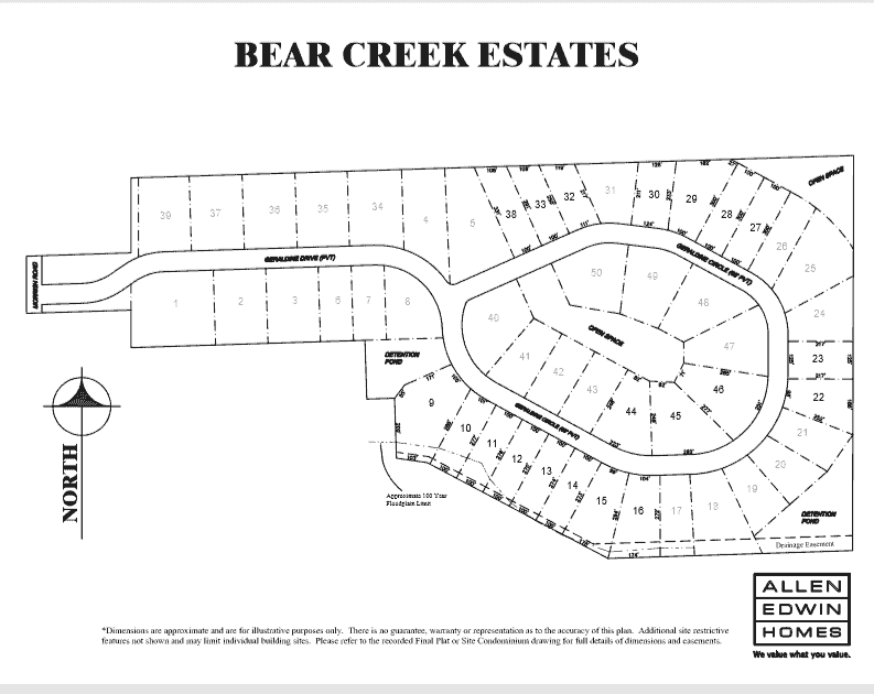 Bear Lake Lot Map