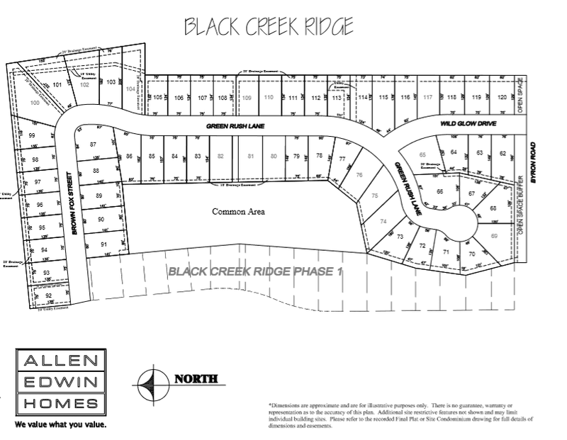 Black Creek Ridge Lot Map