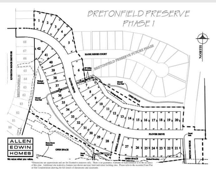 Bretonfield Preserve Lot Map