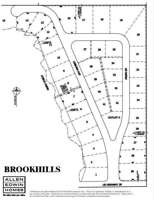 Brookhills Lot Map