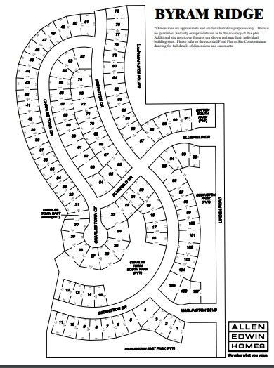 Byram Ridge Lot Map