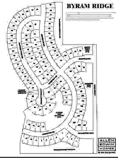 Byram Ridge Lot Map