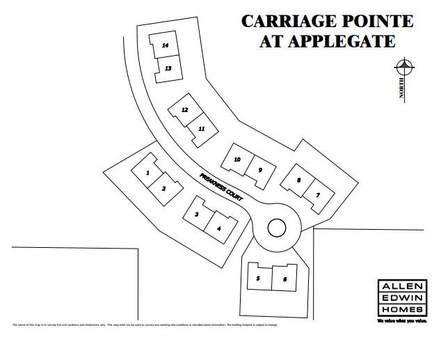 Carriage Pointe at Applegate Lot Map
