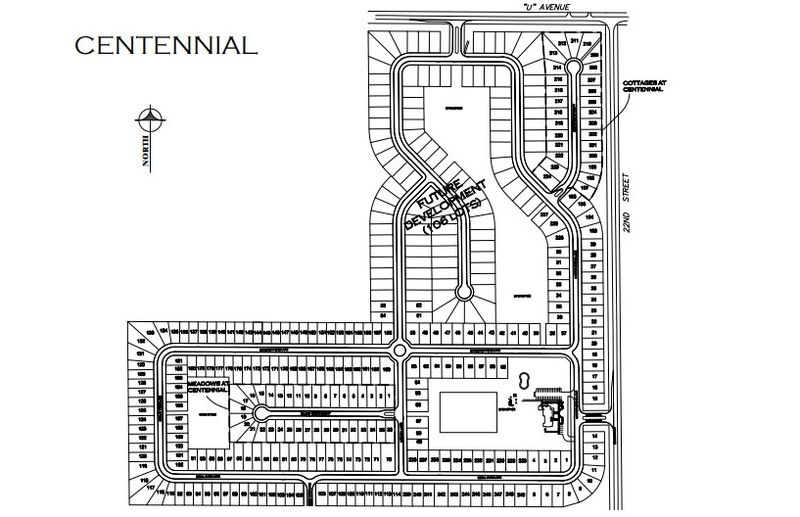 Centennial Lot Map