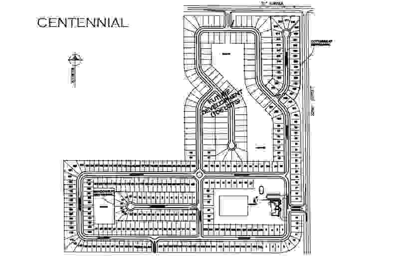 Centennial Lot Map