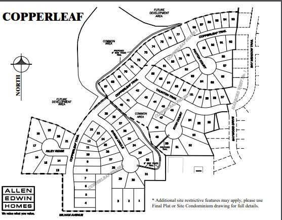 Copperleaf Lot Map