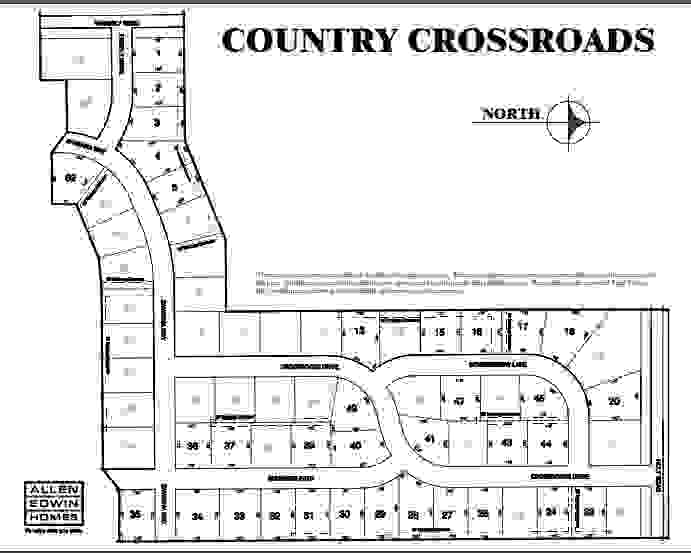 Country Crossroads Lot Map