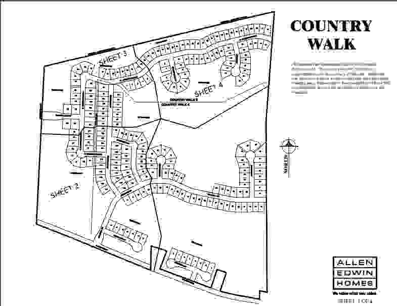 Country Walk Lot Map