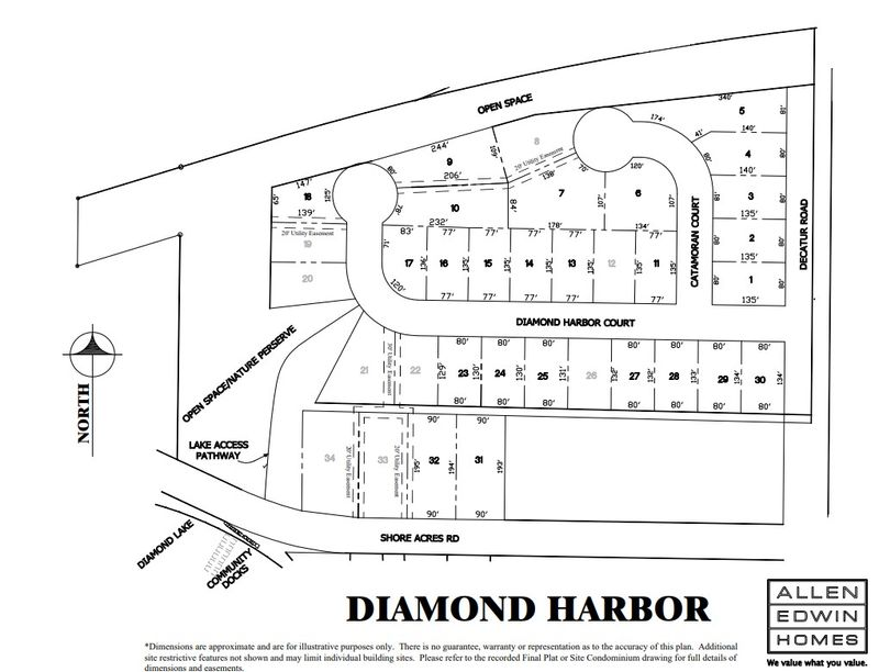Diamond Harbor Lot Map