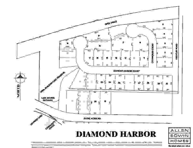 Diamond Harbor Lot Map