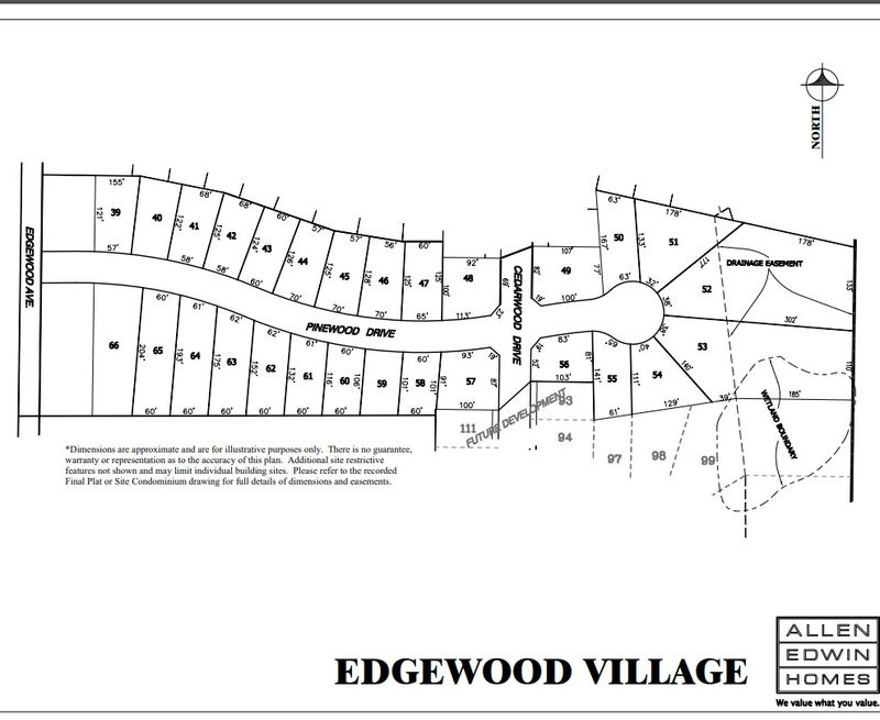 Edgewood Village Lot Map