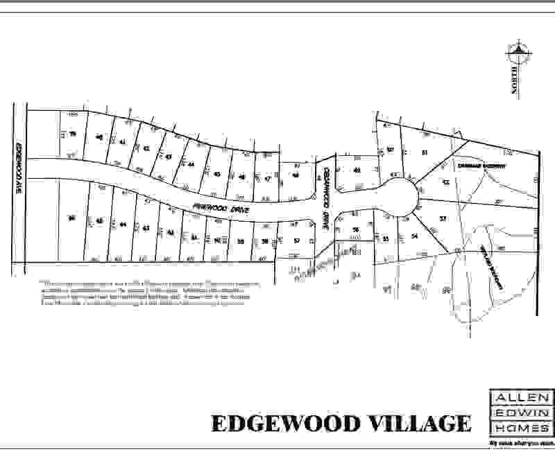 Edgewood Village Lot Map