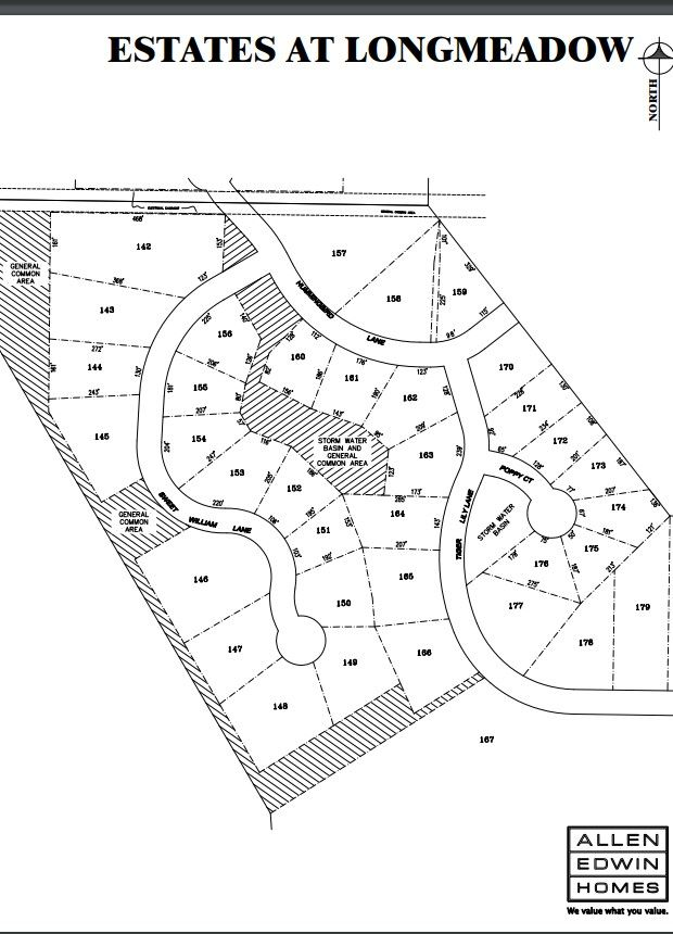 Estates at Longmeadow Lot Map