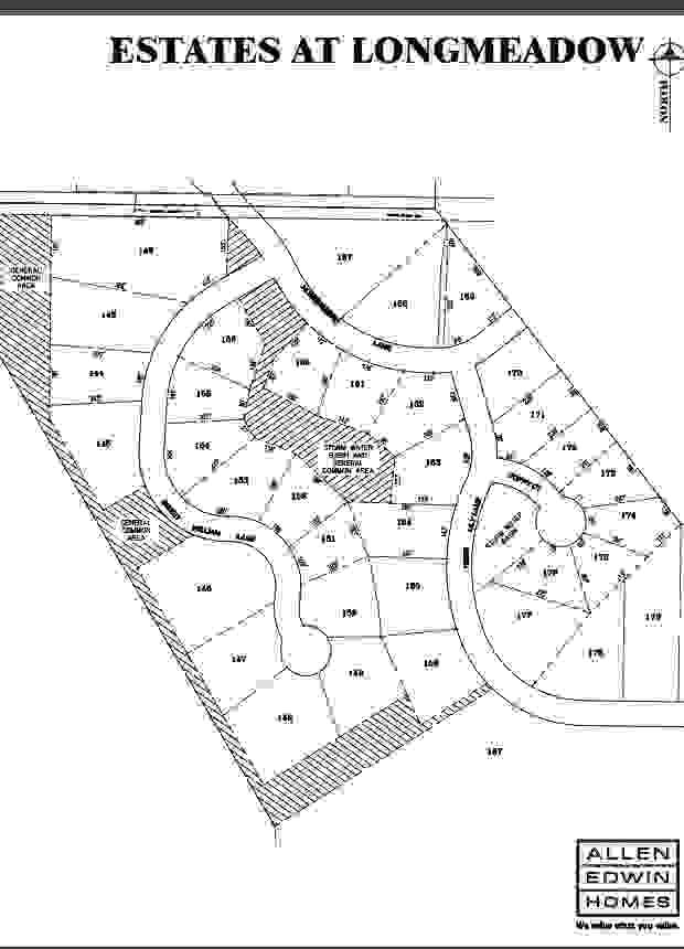 Estates at Longmeadow Lot Map