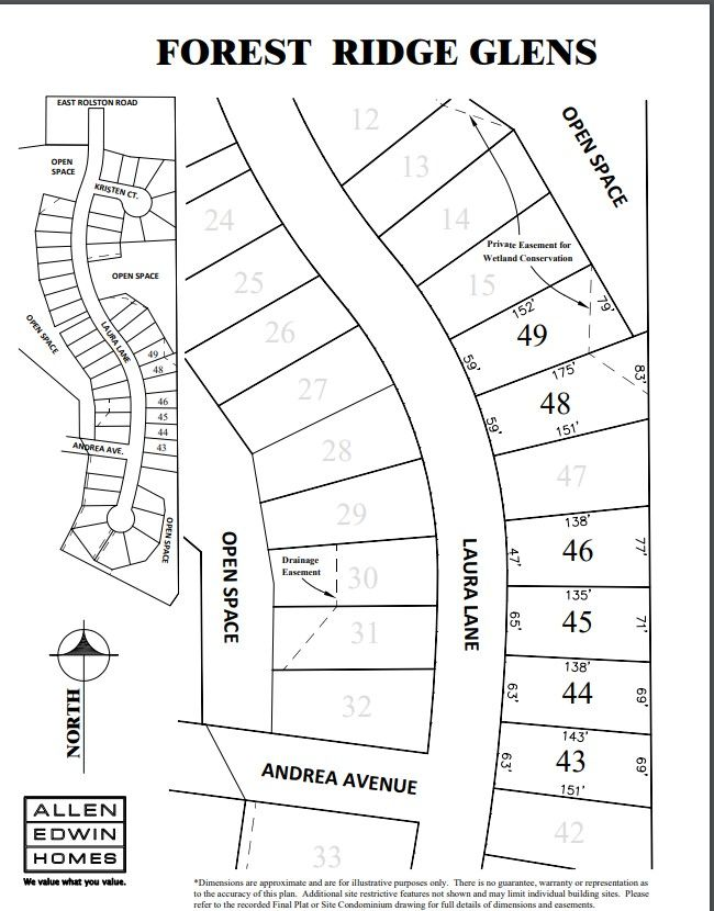 Forest Ridge Glens Lot Map