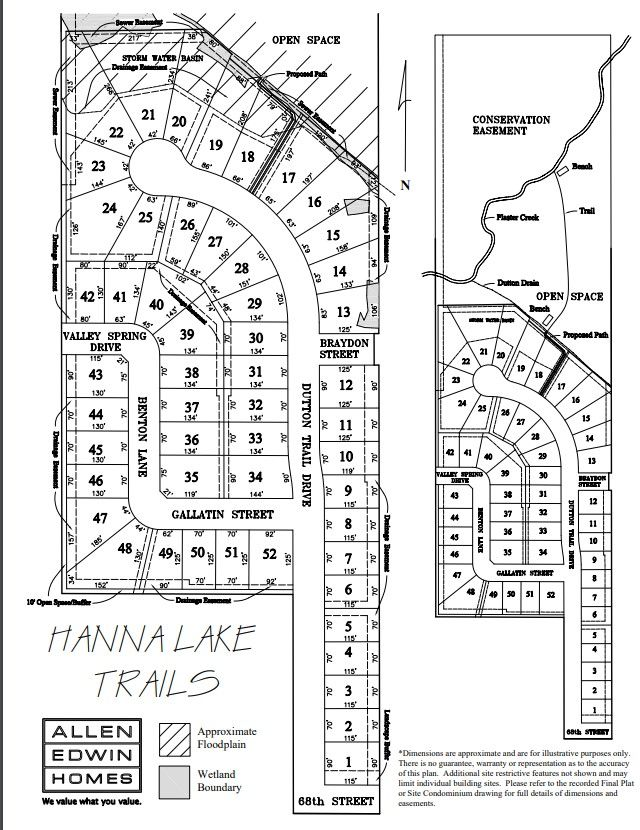 Hanna Lake Trails Lot Map