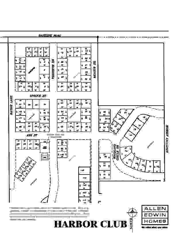 Harbor Club Lot Map
