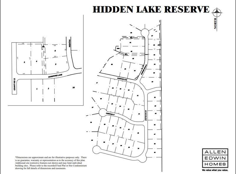 Hidden Lake Reserve Lot Map