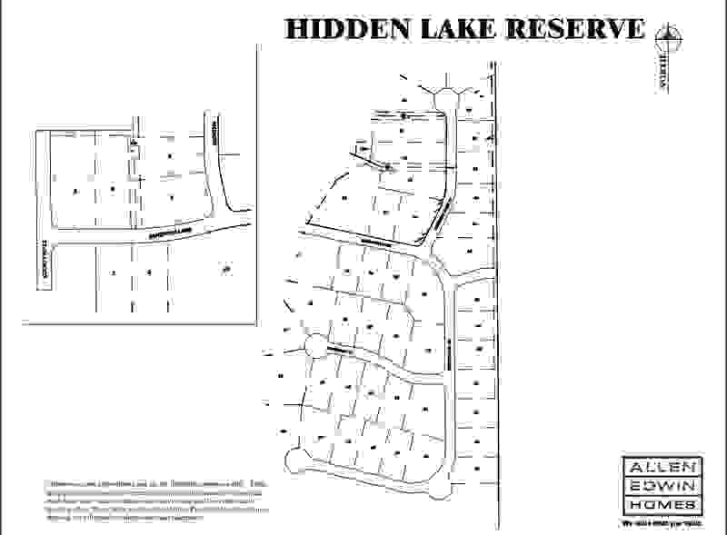 Hidden Lake Reserve Lot Map