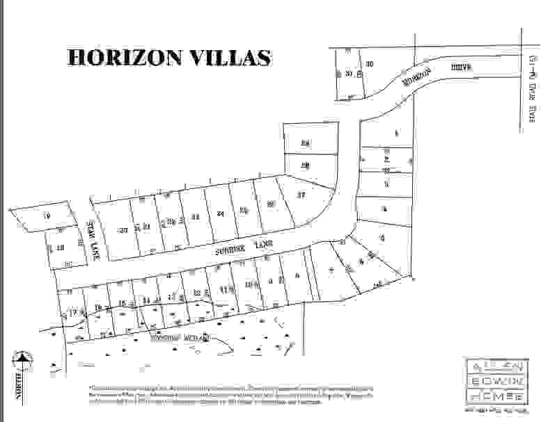 Horizon Villas Lot Map