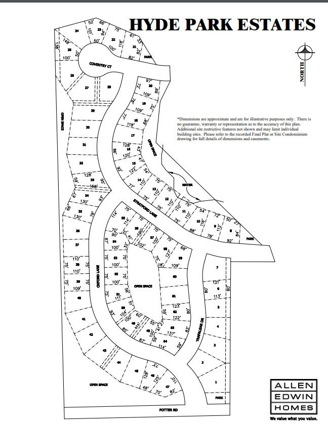 Hyde Park Lot Map