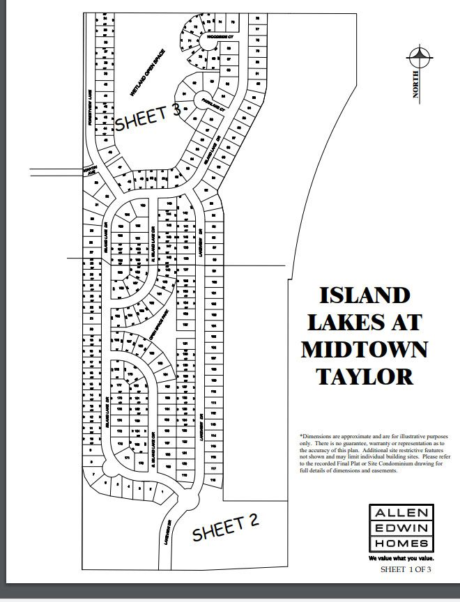 Island Lakes Lot Map 1
