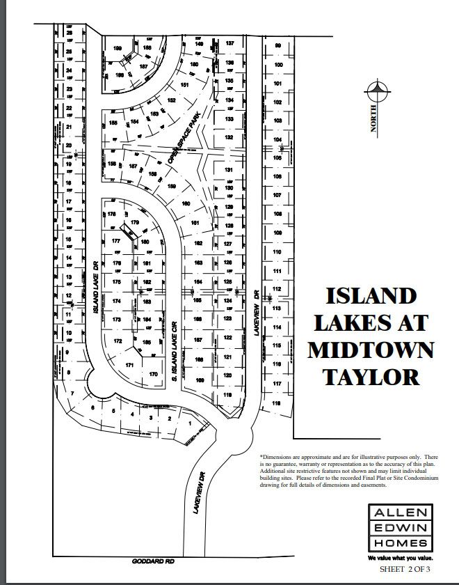 Island Lakes Lot Map 2