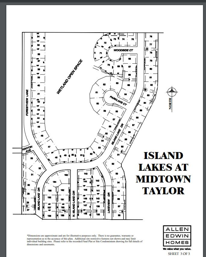 Island Lakes Lot Map 3