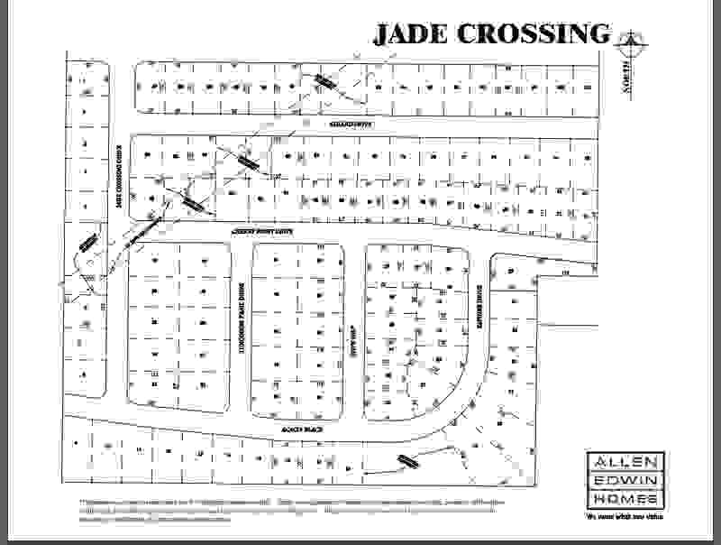 Jade Crossing Lot Map