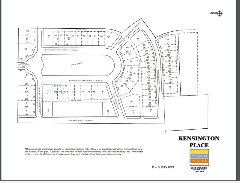 Kensington Place Lot Map