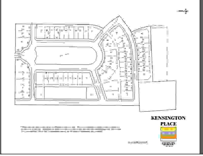 Kensington Place Lot Map
