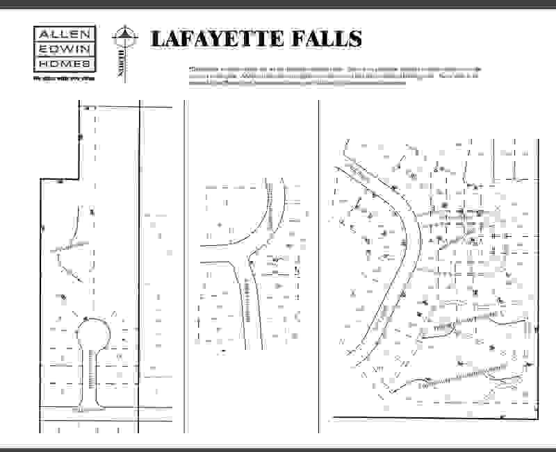 Lafayette Falls Lot Map 1