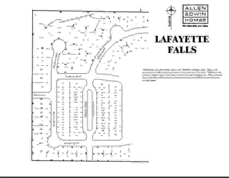 Lafayette Falls Lot Map 2