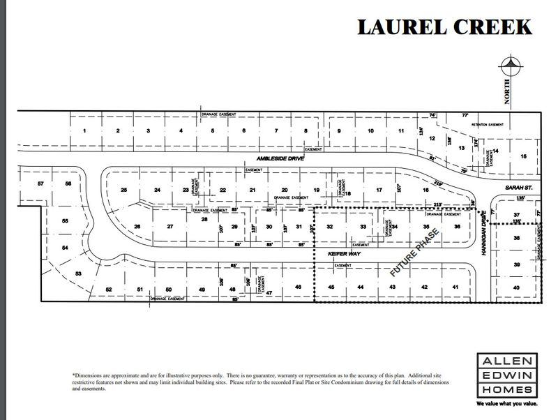 Laurel Creek Lot Map 1