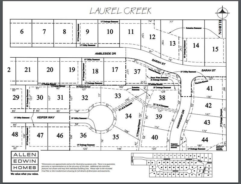 Laurel Creek Lot Map 2