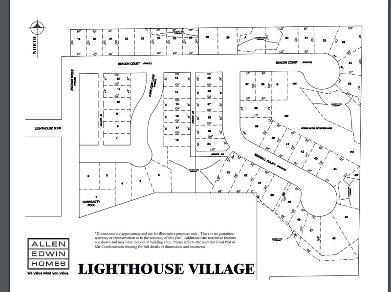 Lighthouse Village Lot Map