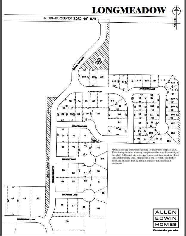 Longmeadow Lot Map
