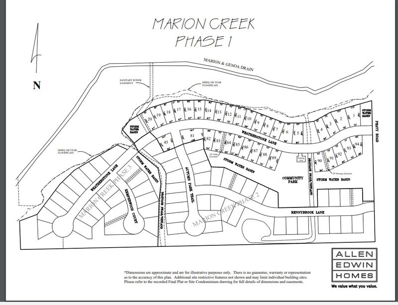 Marion Creek Lot Map