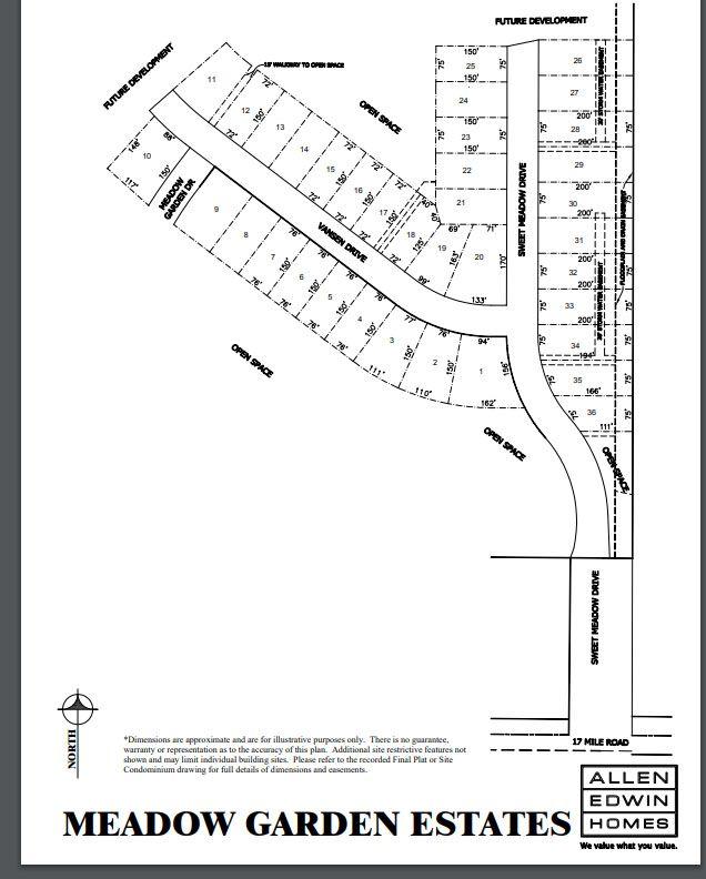 Meadow Garden Lot Map