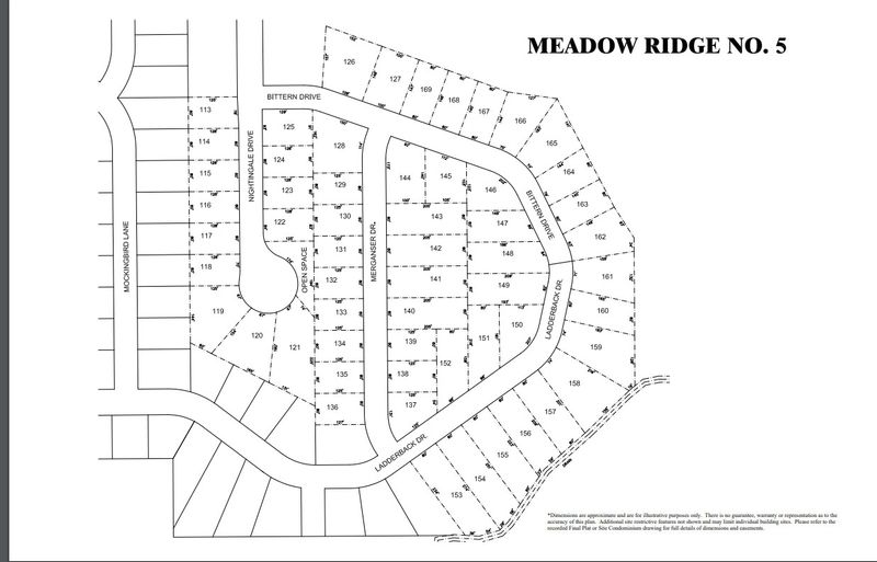 Meadow Ridge Lot Map 1