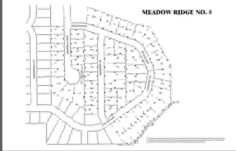 Meadow Ridge Lot Map 1